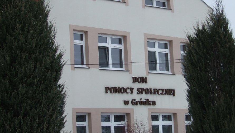 Fotografia przedstawia Dom Pomocy Społecznej w Gródku.